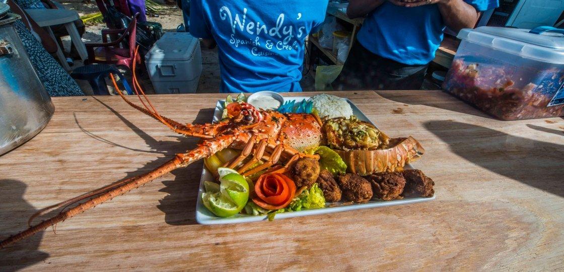 lobsterfest in Placencia Belize