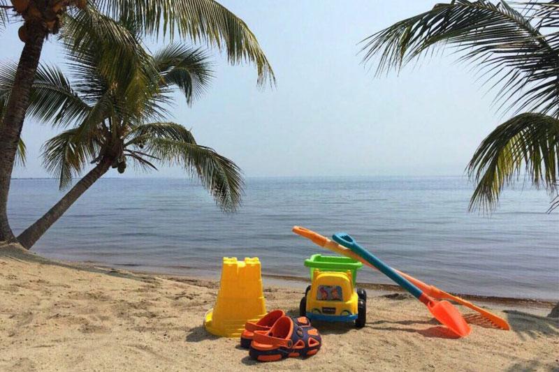 Toys on Belize beach