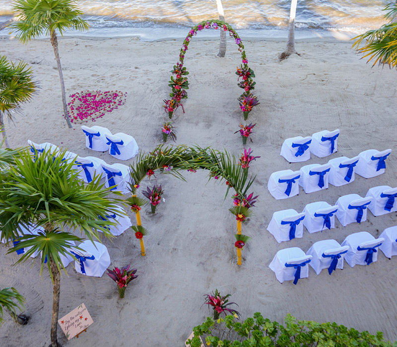 placencia beach wedding
