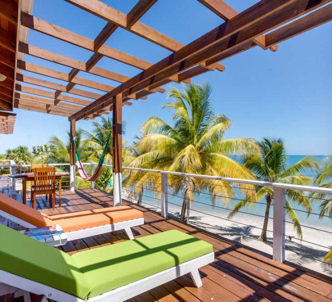 Placencia Belize Accommodations - Balcony