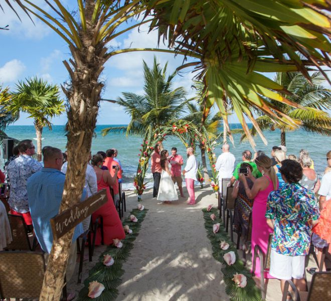 Belize Destination Wedding Guide - Tropical Arch