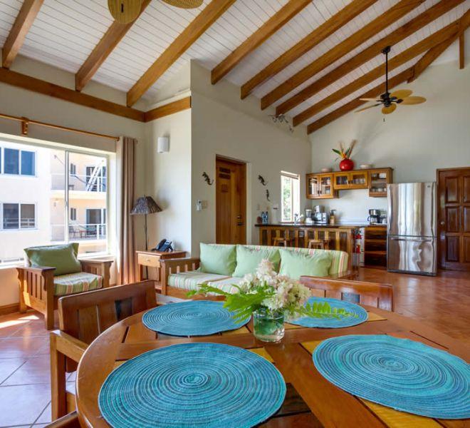 Placencia Belize 1BR Oceanfront Suites - Living Room